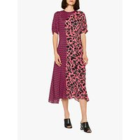 PS Paul Smith Urban Fox Camouflage Print Dress, Pink/Charcoal