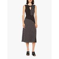 PS Paul Smith Sleeveless Mixed Spot Dress, Black/White