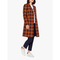 PAUL SMITH   Paul Smith Epsom Check Tweed Coat, Orange   Goxip