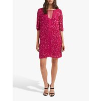 shop for French Connection Diana Sequin Dress, Pink Opulence at Shopo