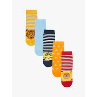 John Lewis & Partners Children's Safari Socks, Pack of 5, Multi