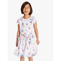 Little Joule Girls Jude Jersey Dress, Pink/Multi