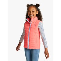 Little Joule Girls' Croft Gilet, Pink