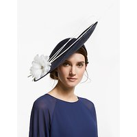 John Lewis & Partners Sienna Flower and Quills Side Disc Occasion Hat