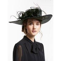 John Lewis & Partners Ivy Flower Detail Side Up Disc Occasion Hat, Black