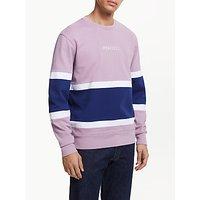 shop for Penfield Boyd Colour Block Sweatshirt, Lavender Mist at Shopo