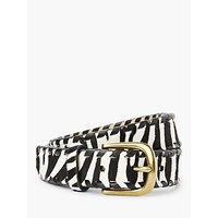 shop for John Lewis & Partners Zara Zebra Print Leather Jeans Belt, Multi at Shopo