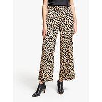 Marella Leopard Print Trousers, Beige