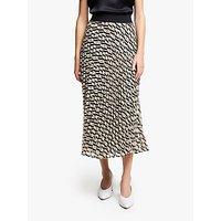 Marella Vita Print Pleated Skirt, Beige