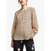 Marella Marsala Silk Spot Blouse, Powder