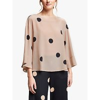 Marella Mirca Spot Silk Blouse, Powder