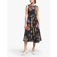Marella Pinta Floral Print Dress, Black