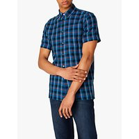 PS Paul Smith Cotton Linen Check Shirt, Blue