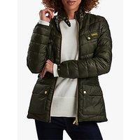 Barbour International Gleann Quilted Jacket, Moto Green