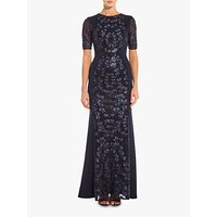 Adrianna Papell Knit Sequin Maxi Dress, Midnight