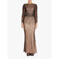 Adrianna Papell Petite Long Gown, Black/Gold