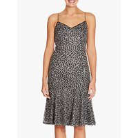 Adrianna Papell Embroidered Sequin Dress, Cream Multi