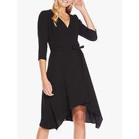 Adrianna Papell Bow Wrap Dress, Black