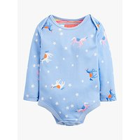 Baby Joule Snazzy Unicorn Bodysuit, Blue
