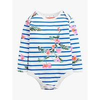 Baby Joule Snazzy Floral Bodysuit, White Stripe