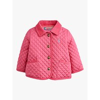 Baby Joule Mabel Quilted Jacket, Hot Pink