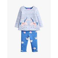 Baby Joule Poppy Top and Leggings Set, Blue