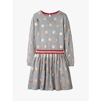 Mini Boden Girls' Spot Dress, Grey