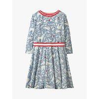 Mini Boden Girls' Woodland Animal Print Jersey Dress, Blue