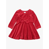 Polarn O. Pyret Baby Velvet Bow Party Dress, Red