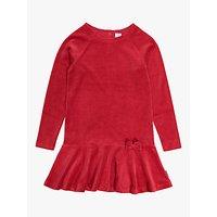 Polarn O. Pyret Girls' Velvet Dress, Red