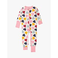 Polarn O. Pyret GOTS Organic Cotton Children's Heart Onesie, Pink