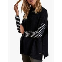 Barbour Sherwood Textured Knit Poncho