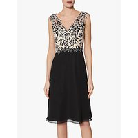 Gina Bacconi Siofra Contrast Bodice Dress, Black