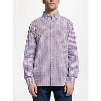 John Lewis and Partners Cotton Poplin Gingham Shirt, Purple