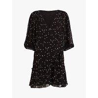 Allsaints Gracie Nala Dress, Black/oyster White