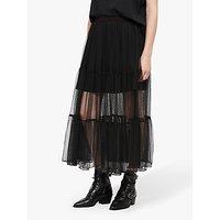 Allsaints Lali Long Skirt, Black