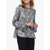 Brora Liberty Print Satin Silk Shirt, Multi