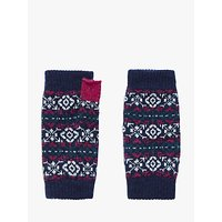 Brora Nordic Print Cashmere Wrist Warmers