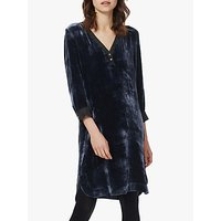 Brora Silk Velvet Button Up Tunic Dress