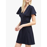 French Connection Alexia Crepe Jersey Wrap Dress, Utility Blue