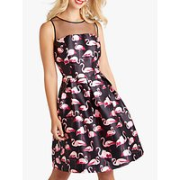 Yumi Flamingo Flared Prom Dress, Black