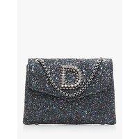 Dune Ejessie Glitter Embellished Evening Bag, Petrol Blue