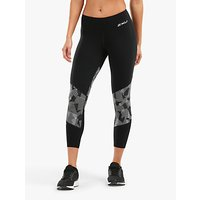 2xu Fitness Block Compression 7/8 Tights, Black