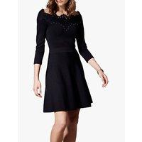 Karen Millen Lace Detail Mini Dress, Black