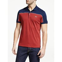 Lacoste Colour Block Short Sleeve T-Shirt, Pinot/Navy