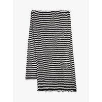 Allsaints Striped Blanket Scarf, Black Porcelain