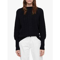 AllSaints Dilone Wool Cashmere Jumper, Ink Blue
