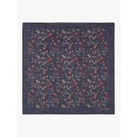 Paul Smith Floral Silk Pocket Square, Blue