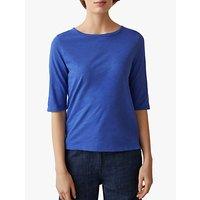 Toast Half Sleeve Cotton T-Shirt, Washed Cobalt