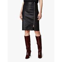 Karen Millen Coated High Waist Skirt, Black